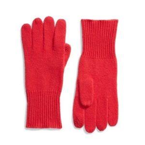 Halogen 100% Cashmere Rib Knit Gloves